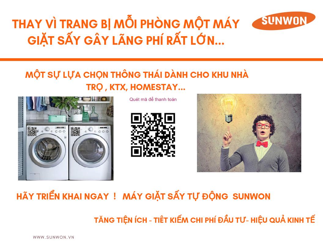 Hệ thống giặt sấy tự động Sunwon