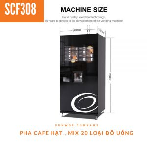 Máy pha cafe tự động pha hạt cao cấp SCF308D