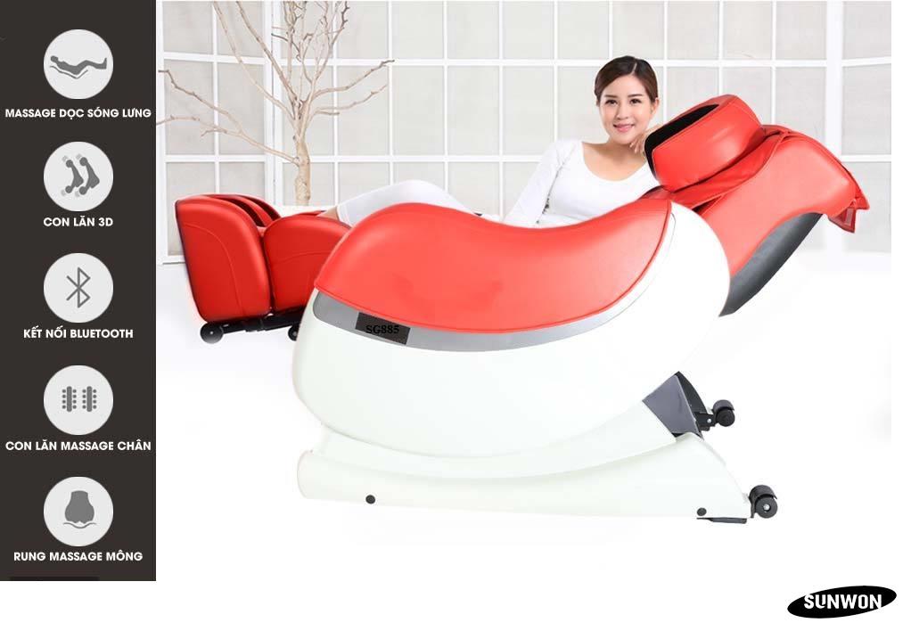 Chức năng ghế massage 3D SG885