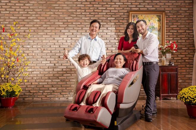 ghế matxa toàn thân chăm sóc sức khỏe gia đình