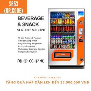 Máy bán hàng tự động thanh toán ví điện tử S653 QR.CODE